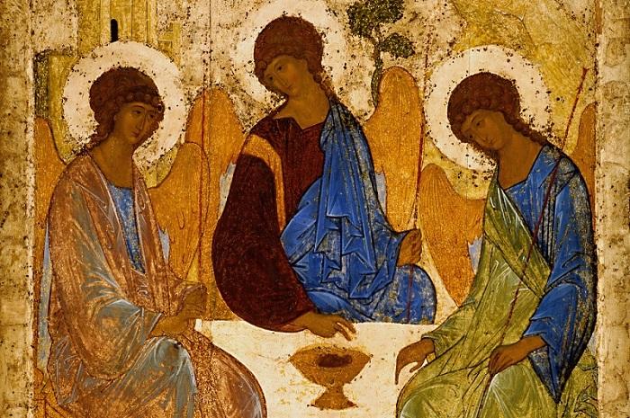 Святая Троица Андрей Рублев
