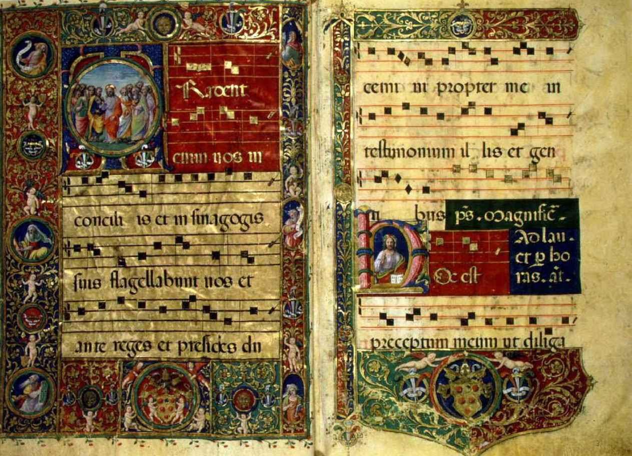 Средневековая нотная рукопись