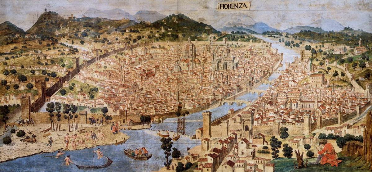 an overview of the start of the renaissance in italy between the early 1300s to late 2500s In italy, it began in the 1300s and reached its peak around 1500 instead of focusing on religion, as in the middle ages, the renaissance explored the human experience at the same time, there was a new emphasis on individual achievement.