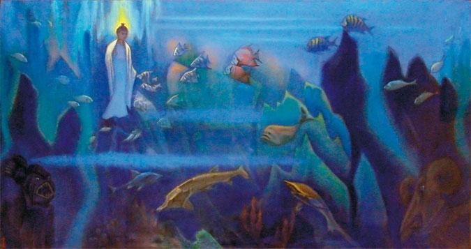 "Картина Н.Рериха ""Будда на дне океана"""