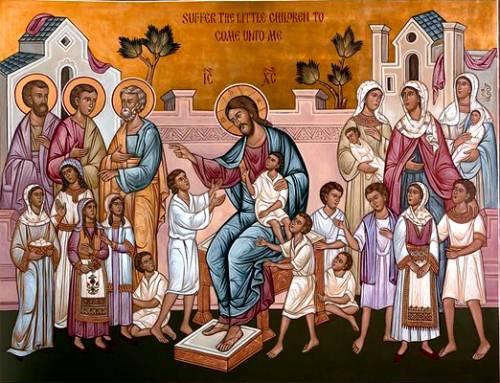 Христос благословляет детей