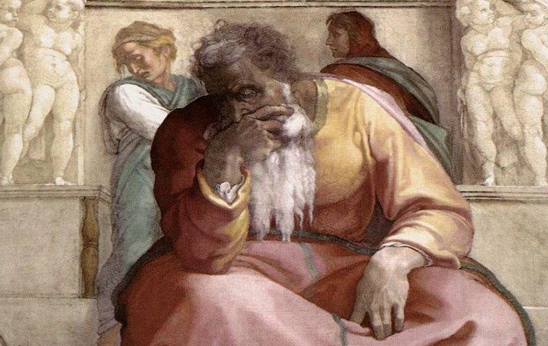 Микеланджело. Пророк Иеремия